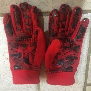 Red Black Liner Gloves to go Inside Mittens Size L